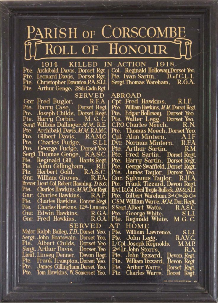 Memorial in the Village Hall