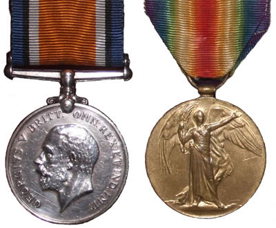 British War Medal and Allies Victory Medal