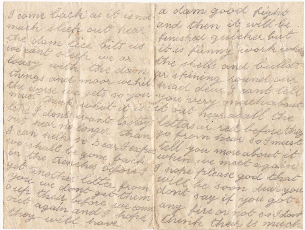 Christopher's Last Letter Home